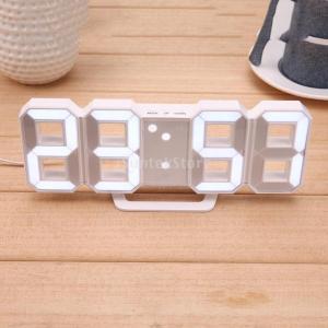 デジタル 目覚まし時計 北欧調 壁掛け USB充電式 LED表示 装飾