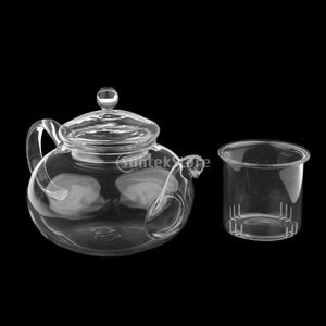 Lovoski 北欧スタイル スワン 耐熱ガラス ティーポット 紅茶 ハーブティー 花茶 お茶 道具 面会用 全2タイプ - 400ml|stk-shop