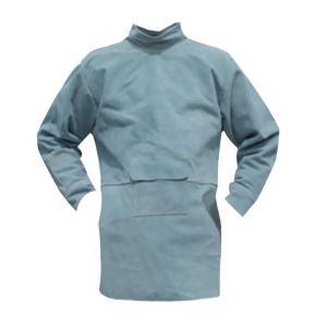 溶接保護ジャケット 作業服 溶接用 エプロン 保護 カバー 耐久性 機敏性 耐磨耗性 高品質 安全 全4サイズ2色選べ - 85cm 青|stk-shop