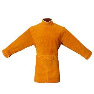 溶接保護ジャケット 作業服 溶接用 エプロン 保護 カバー 耐久性 機敏性 耐磨耗性 高品質 安全 全4サイズ2色選べ - 85cm オレンジ