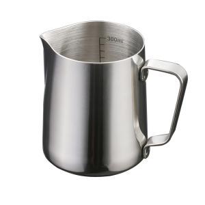 Lovoski 高品質 実用 ステンレス製 ミルク 泡立て ジャグ コーヒー エスプレッソ ラテ アート ピッチャー 2サイズ選ぶ - 350ml|stk-shop