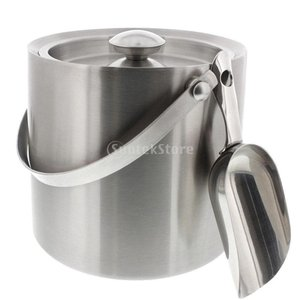 Lovoski ステンレス鋼 アイスペール 氷入れ 氷バケツ 保温バケット 水汲みバケツ 野外用クーラーボックス 蓋付き 全2サイズ選ぶ - 3L|stk-shop