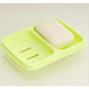 家庭用 防水ダブル 格子排水 石鹸ボックスカバー 全3色 - 緑|stk-shop