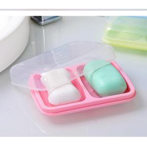 家庭用 防水ダブル 格子排水 石鹸ボックスカバー 全3色 - ピンク|stk-shop