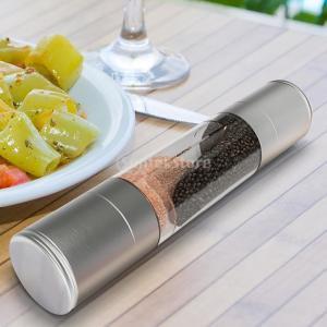 Lovoski 高品質 ステンレススチール製 スパイス ソース ソルト ミル 粉砕機 マニュアル コショウミル|stk-shop