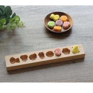 木製月餅模具 月餅の型 月餅モールド お菓子 クッキー型 お菓子 ベーキング 型 全20様式選ぶ - 様式1 stk-shop