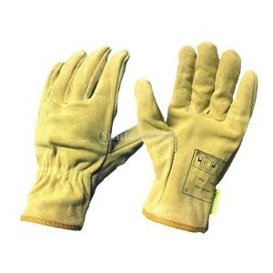 Fenteer 溶接手袋 作業用 牛革製 熱や磨耗に強い 快適性 4色  - ライトイエロー