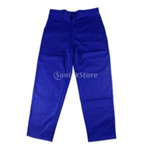 溶接ズボン 保護服 作業 安全性 難燃性 メンズ 青色 高品質|stk-shop