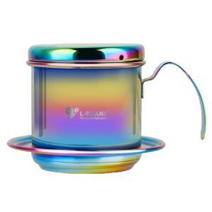 高品質 ベトナム式 コーヒードリッパー 3色選択 コーヒーフィルター ステンレス 家庭 オフィス ア...