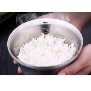 鉢 ステンレス 目盛り ライス ラーメン スープ キッチン 2サイズ選択 二重構造 ボウル  - S:125x65mm|stk-shop