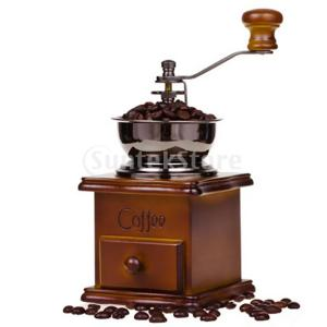 Baosity コーヒーグラインダー 手挽き コーヒーミル 粒度調整可能 木製 引き出し式 |stk-shop