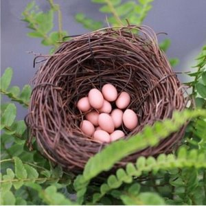 説明:手作りのブドウ鳥の家の巣、様々なサイズ:6cm  -  35cmのオプションそれは暖かく、静か...