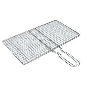 KESOTO バーベキュー 網 屋外  合わせタイプ バーベキュー 串 ステンレス 全2サイズ 軽量 滑りにくい  - S|stk-shop
