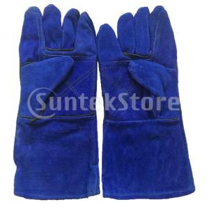 溶接手袋牛革レザー耐熱手袋f /安全保護14 ''