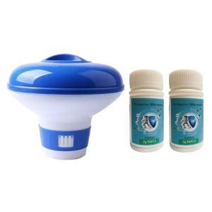 タブレット付きプール塩素ディスペンサー塩素ディスペンサー_A + 100個の錠剤|stk-shop