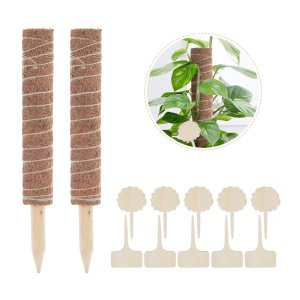 30/40 / 50cmココナッツコイアトーテムポール拡張可能なモススティック植物登山30cm