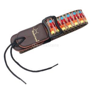 Lovoski ウクレレ ギター用 ナイロン 調節可能 軽量 ストライプ ストラップ ベルト 民族スタイル|stk-shop