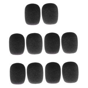 10個入 マイクスポンジ 雑音防止 マイクカバー 風防 全5色 - 黒|stk-shop