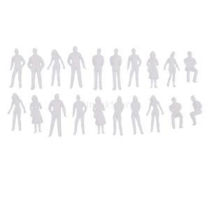 説明:  20Pcs 1/50 O Scale無塗装モデル人物ミニチュアフィギュア建築モデル人間のプ...