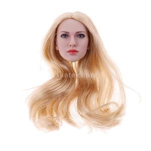 説明:  1/6スケールアクセサリーアジアの女性の女性美容師の頭部の彫刻 12インチアクションフィギ...
