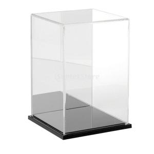 Fenteer アクリル製 展示ボックス ディスプレイケース ショーケース アクションフィギュア用 全3色 - ブラック