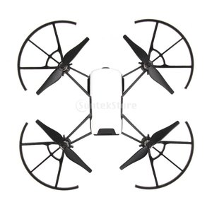 説明:  4個のプロペラのガードプロテクターDJI TELLO Drone用シールドリングシールドド...