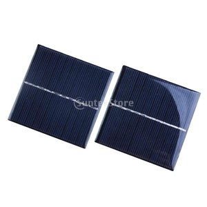 Fenteer 2個 5V 160mA ソーラーパネル ソーラー充電器