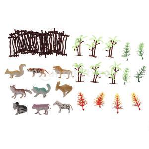 説明: 真新しいそして高品質の100% これらの現実的でリアルな動物園の動物園や木のモデルは、子供た...