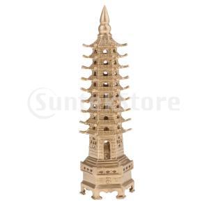 説明: この銅文昌塔の塔像:品質と詳細に優れています。 家の装飾やオフィスの机の上に最適な中国の風水...
