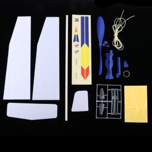 飛行機のおもちゃ ストリングパワー飛行機 平面模型玩具 手芸雑貨 工芸品 組み立て容易