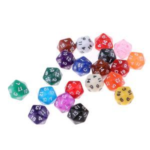 テーブルゲームキッズ数学練習用の20個の多面体サイコロセット20面 stk-shop
