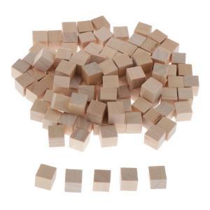 100木製キューブ工芸品0.39寸法木製正方形ブロックにある工芸品DIYプロジェクト stk-shop