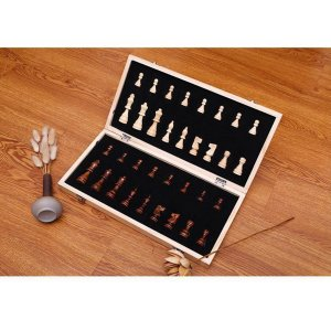 磁気チェスセット13 インチ× 13インチ 象眼木製チェスセットと折りたたみチェスチェスの駒.収納ボックスセット木製ゲーム stk-shop