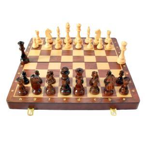 競争力のある18インチXL大型手作り木彫りチェスセットウッド stk-shop