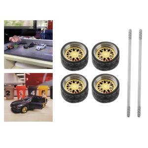 4個/セット1/64オンロードモデルカーホイール&タイヤホットウィールE2用スペアパーツ
