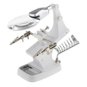 Kesoto LED拡大鏡  USBケーブル 工具 虫眼鏡 LED付け はんだ付け 拡大鏡 2色選べ - 白