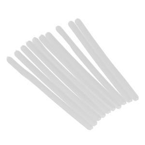 シリコン メガネ テンプルチューブ ソフト 快適 保護 眼鏡修理用 交換可能 10本入り 全2色 - 白