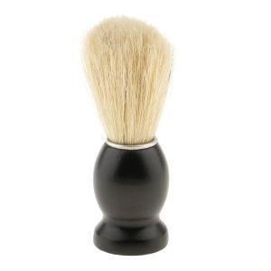 ひげそり用ブラシ 木製ハンドル シェービングブラシ 家庭 プロ 全4色 ランダム  - 黒|stk-shop