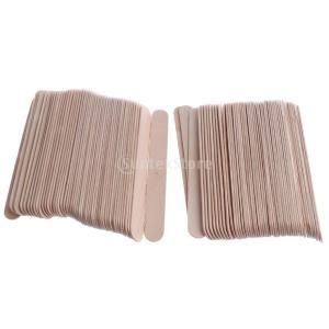 木製スティック スパチュラ 舌圧子 タトゥーワックス 約100枚 ワッペン 使い捨て スティック|stk-shop