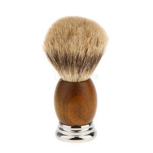 紳士 高密度 シェービングブラシ レトロ 木製ハンドル 髭剃り 泡立ち 洗顔ブラシ 父の日|stk-shop