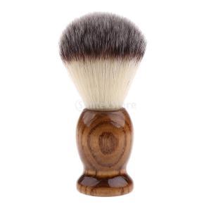 木製ハンドル メンズ シェービングブラシ サロン 理髪 髭 ツール 紳士 ギフト|stk-shop