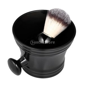シェービング ブラシ ボウル 2個セット ナイロン シェービングブラシ ひげ剃り ボウルセット|stk-shop