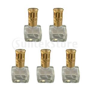 説明:高度に磨かれた高品質の厚いガラス製。 美しい帽子と金の光沢のある細かいミスト噴霧器精油、香水、...