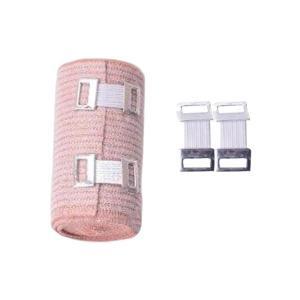1パック 弾性包帯 通気性 綿 弾性圧縮包帯 フックループ 閉鎖 3サイズ選べ - 7.5 cm stk-shop