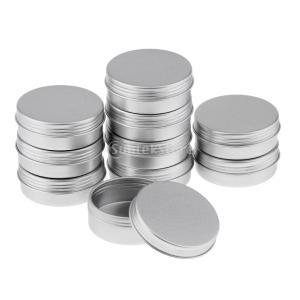 アルミ缶 丸い 空缶 ポット 化粧品 詰替え 容器 クリーム瓶 収納ボトル 5タイプ選べる - 10個25ml stk-shop