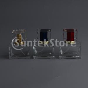 新しい詰め替え可能なガラス香水アトマイザーチューブ空のスプレーボトル30 ML DIYバイアル(クリ...