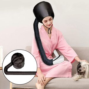 ドライヤーキャップ ヘアドライヤーハット 髪干し帽子 ヘアカラーリング用品 調節可能な 加温キャップ 便利|stk-shop