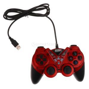 USB 2.0 有線 ハンドル アナログ ゲームパッド ゲームコントローラ コンピュータゲーム用 ノートパソコン用