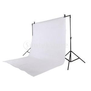 2x3m モスリン 背景布 手洗い可能 スタジオ ポートレイト撮影に最適 - 白