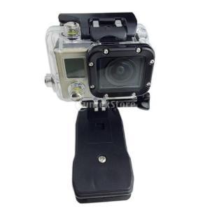 アクションカメラ クリップ マウント キット w /バックパック ベルト クランプ 三脚アダプター ...